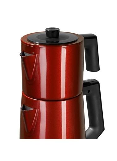 Goldmaster Goldmaster Demlen Kırmızı Çay Makinesi & Su Isıtıcı IN-6311K Renkli